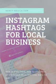Hashtags for Small Local Business - DIY Online Marketing. Your complete guide for finding and using Instagram hashtags as a local business or small business. #smallbusinesstips #localbusinesses #instagrammarketing