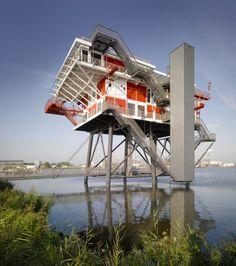Office and Restaurant development over Amsterdam harbor