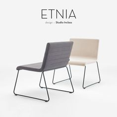 The ETNIA collection comprises chairs and occasional tables. The chairs are born from the combination of a seat with sleek lines and essential shape with a fixed solid steel rod base or a swivel base with a central column and auto return mechanism. Both versions can be fitted with either rod arms or upholstered arms. The collection is completed with original occasional tables in three sizes which are available in a range of finishes.