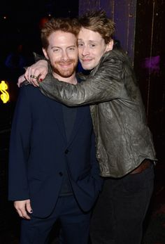 Actors Seth Green and Macaulay Culkin attend the 2012 Adult Swim Upfront Party at Roseland Ballroom on May 16 2012 in New York City