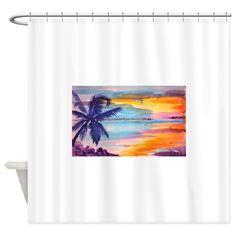 Sunset Shower Curtain by ApolloCustomArt