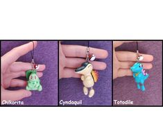 Chikorita Cyndaquil Totodile Pokemon Polymer Clay Charm Figure Etsy #totodile #chikorita #cyndaquil #figure #charm #dustplug #kawaii #cute #pokemon #claycrafts Pokemon Starters, Dust Plug, Kawaii, Polymer Clay Charms, Cool Artwork, Friends In Love, Plugs, Charmed, Drop Earrings