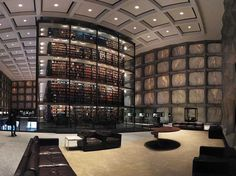 The 16 Coolest College Libraries In The Country  Beinecke Rare Book and Manuscript Library Interior  Read more: http://www.businessinsider.com/coolest-college-libraries-2014-4?op=1#ixzz2ytwJ3IIB