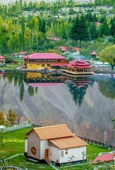 Shingrila lake Skardu valley Gilgit Baltistan Pakistan