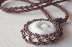 shell macrame necklace