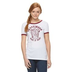 "Juniors' Harry Potter ""Gryffindor Brave At Heart"" Graphic Tee, Girl's, Size:"
