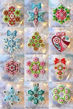 :: Crafty :: Clay ::☃ Christmas ☃:: My Joyful Moments: My Etsy Store is Open! Polymer Clay Ornaments, Polymer Clay Projects, Polymer Clay Charms, Polymer Clay Creations, Clay Crafts, Polymer Clay Christmas, Felt Christmas Ornaments, Noel Christmas, Handmade Christmas