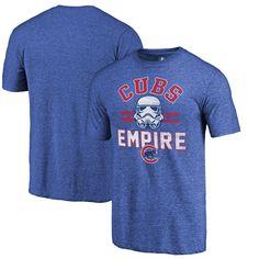 Mens Chicago Cubs Fanatics Branded Royal MLB Star Wars Empire Tri Blend T Shirt