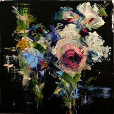 "Saatchi Online Artist carmelo blandino; Painting, ""Bouquet in D Minor part3 36""x36"" acrylic on canvas"" #art"