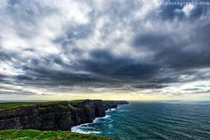 Ireland Photography, Cliffs Of Moher, Landscape Photo, Seascape, Ocean Photograph, Dramatic Landscape, Fine Art Print, Stormy Sea Photo