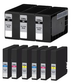 Buy PGI2200XL Ink Cartridge 9PK - 3B/2CMY for Canon at Houseoftoners.com. We offer to save 30-70% on ink and toner cartridges. 100% Satisfaction Guarantee.