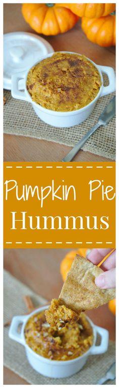 Pumpkin Pie Hummus – A delicious dessert hummus that takes just minutes to make! Grab a cinnamon sugar pita chip and dig in to this addicting fall appetizer! #PumpkinWeek #pumpkin
