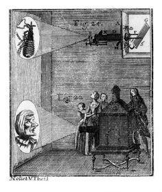 Magic lantern show, 1755. Illustration of a -- High quality art prints, canvases, postcards, mugs -- SSPL Prints