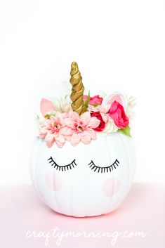 How to Decorate a Unicorn Pumpkin for halloween. Pumpkin decorating idea for kid… How to Decorate a Unicorn Pumpkin for halloween. Pumpkin decorating idea for kids. Dog Pumpkin, Unicorn Pumpkin, Scary Pumpkin, Pumpkin Art, Cute Pumpkin, Pumpkin Crafts, Pumpkin Carving, Disney Pumpkin, Cute Painted Pumpkin Ideas