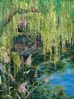 detail of Weeping Willow over Water by Amanda Richardson - click to return