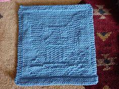 Free Knitting Pattern - Dishcloths & Washcloths : Navy Eagle Dishcloth