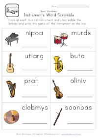 English worksheet: Musical Instruments | Music Vocabulary ...