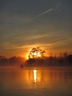 Dawn in Canberra, Australia in autumn.