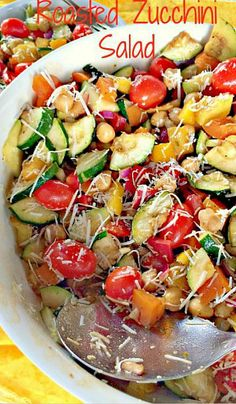 ROASTED ZUCCHINI SALAD - Try with different salad dressings