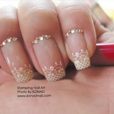 wedding nail designs nails see more about wedding nails design lace nails and wedding nails wedding pinterest lace nails wedding and manicures