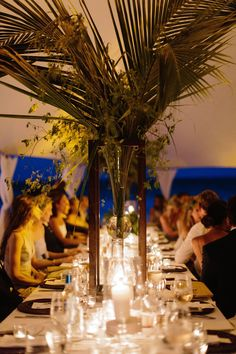 """Farrell Crowley and Benjamin Miller, Harbour Island, Bahamas. """"Throughout all of our events, we opted for natural tones with greenery authentic to the island."""""""