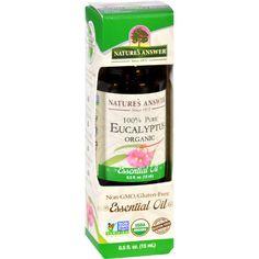 Natures Answer Essential Oil - Organic - Eucalyptus - .5 Oz