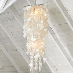 capiz shell chandeliers | ... beautiful capiz shell chandeliers in all the magazines and catalogues