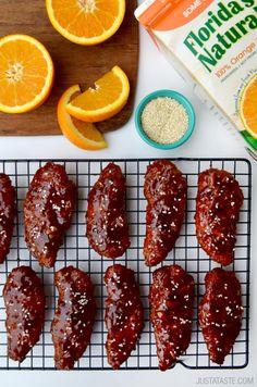Baked Orange Chicken TendersReally nice recipes. Every hour.Show  Mein Blog: Alles rund um die Themen Genuss & Geschmack  Kochen Backen Braten Vorspeisen Hauptgerichte und Desserts # Hashtag