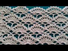 How to Crochet Fan Stitch / Crochet Patterns - ΠΛΕΞΙΜΟ ΜΕ ΒΕΛΟΝΑΚΙ - Eye Makeup Crochet Stitches Patterns, Lace Patterns, Crochet Patterns Amigurumi, Knitting Stitches, Crochet Designs, Stitch Patterns, Stitch Crochet, Knit Crochet, Easy Crochet