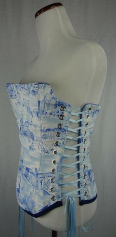 8b2aaa32e3 Water Color of Paris Overbust Corset Bust 25-30 by CorsetsforGeeks Layered  Fashion