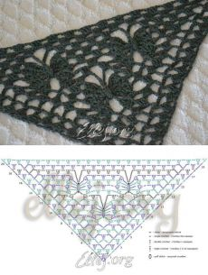 The pattern for the shawl Moon butterflies |  Crochet by Ellej |  Crochet from Elena Kozhukhar
