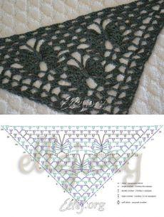 The pattern for the shawl Moon butterflies    Crochet by Ellej    Crochet from Elena Kozhukhar