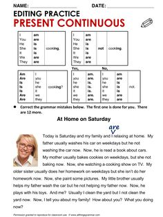 English Grammar Present Continuous www.allthingsgrammar.com/present-continuous.html