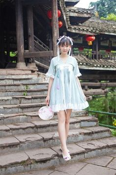 New Vintage Chinese Sweat Han Dynasty Daily Dress Fairy Kei Mori Girl Causual - Brought to you by Avarsha.com