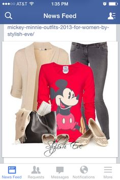 Mickey Mouse shirt outfit