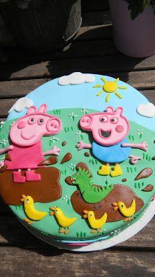 Pastel Pepa y George Pig. Pepa and George Pig cake. Natali's cooking
