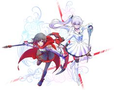 Ruby Rose and Weiss Schnee.