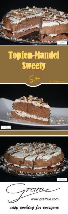 Eine süße Verführung der man nicht wiederstehen kann,.... #gramue.com #torte #topfen #kaffee #mandeln #jause #süsses