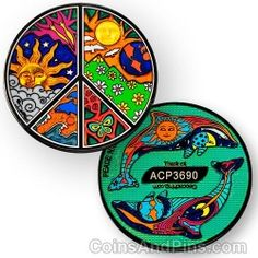 Peace Night and Day Geocoin #Geocaching