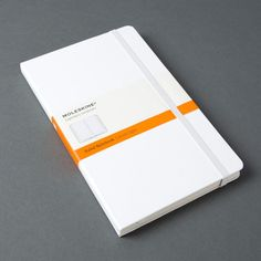 White Hardcover Ruled Notebook by Moleskine Belly Bands, Moleskine, Notebook, Cover, The Notebook, Exercise Book, Notebooks
