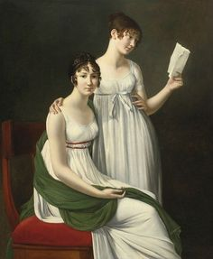 Riesener Henri-François, Portrait of two young women, said to be the Baroness Pichon and Mme de Fourcroy. The Princely Collections, Vaduz–Vienna