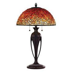 Quoizel TF135TBC 3-Light Pomez Tiffany Table Lamp
