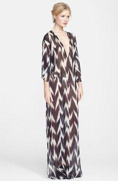 Rachel Zoe 'Tilbury' Ikat Caftan Maxi Dress available at #Nordstrom