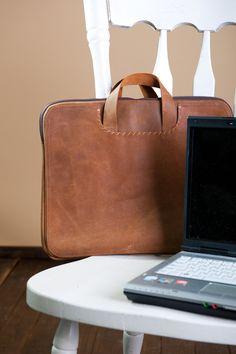 Leather laptop bag, mens bag,. $205,00, via Etsy.
