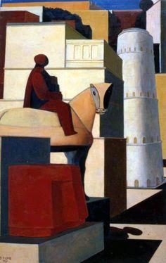 Title: Via Dino Buzzati (1948) Artist: Salvatore Fiume. Nationality: Italian.