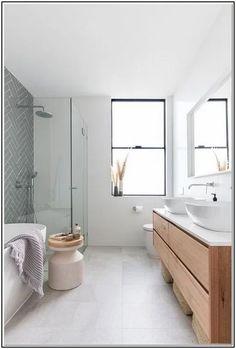 How to Choose Modern Monochrome Bathroom Ideas Black & White Bathroom Inspiration - homesuka Bathroom Wall Decor, Bathroom Interior Design, Small Bathroom, Bathroom Ideas, Bathroom Grey, Bathroom Inspo, Black White Bathrooms, Scandinavian Bathroom, Bathroom Renovations