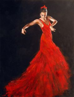 Apassionata - Painting of a flamenco dancer