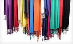 Just bought this Groupon! - $ 19.99 for Three In-Things Pashmina Scarves ($ 120 List Price). 8 Color Sets Available. Free Shipping and Returns. in Online Deal. Groupon deal price: $19.99