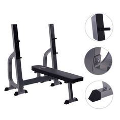 Costway Weight Lifting Flat Bench Fitness Workout Sit Up Board Home Exercise Gym, Silver Lifting Workouts, Fit Board Workouts, Gym Workouts, At Home Workouts, Home Gym Equipment, No Equipment Workout, Weight Lifting Motivation, Adjustable Weight Bench, Gym Body
