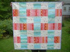 Stacks quilt pattern by Elizabeth hartman from Sarah Jane's Children At Play fabric.